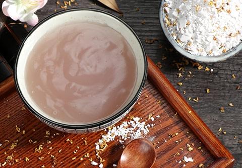 你知道吗手工藕粉是效果显著而且价格低廉的的美容品